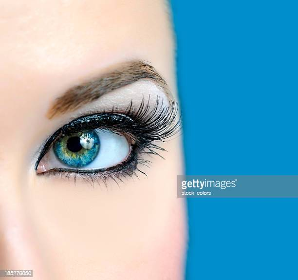 eye macro - eye liner stock photos and pictures