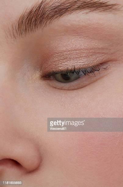 eye make-up, close-up - アイメイク ストックフォトと画像
