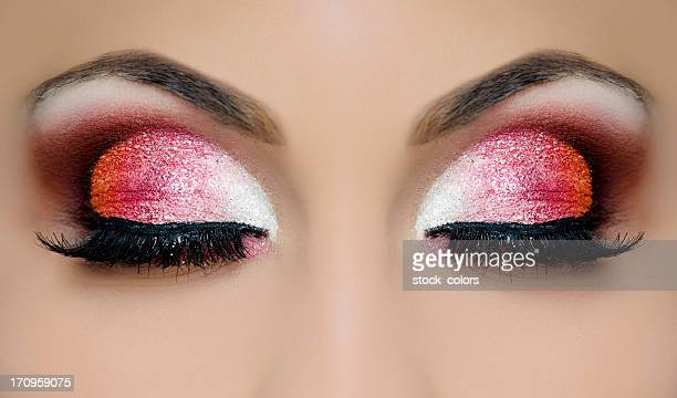 eye makeup - eyeshadow stock pictures, royalty-free photos & images