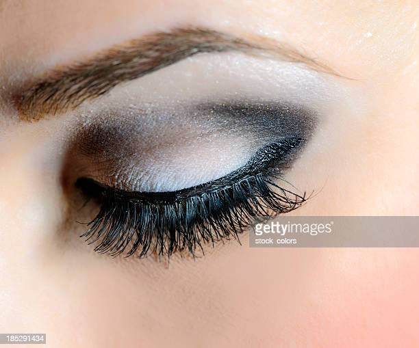 eye makeup - false eyelash stock pictures, royalty-free photos & images