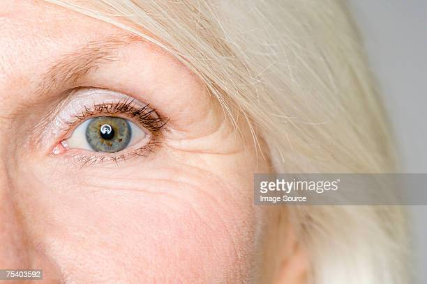 Eye of a senior woman
