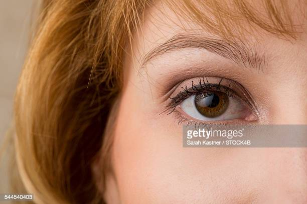 Eye of a young woman, close-up