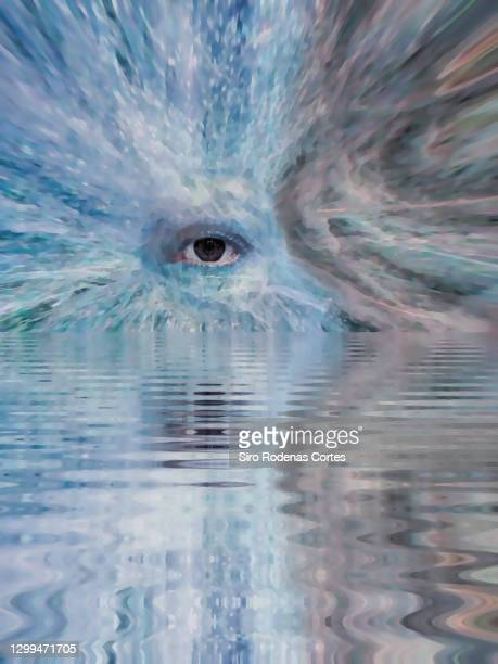 eye of god in colorful - magic eye stock pictures, royalty-free photos & images