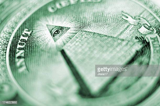 Eye of Providence Closeup - U.S. Dollar Bill