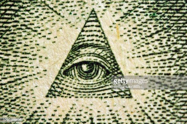 eye of providence us 1 bill. macro - high scale magnification stock pictures, royalty-free photos & images