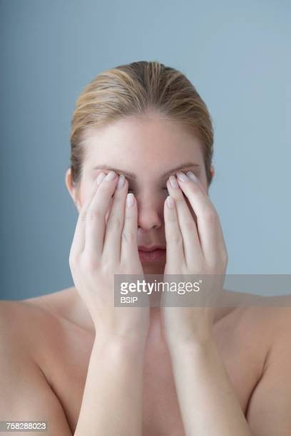 Eye pain in a woman