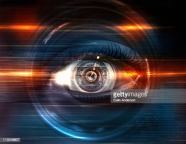 eye spy - retinal scan stock pictures, royalty-free photos & images