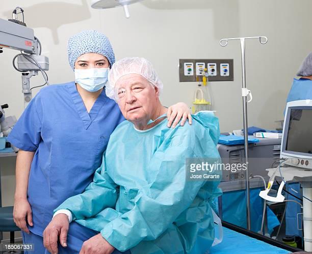 Eye Surgeon after surgery
