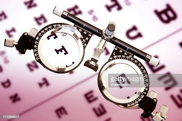 Eye test board and eye sight glasses