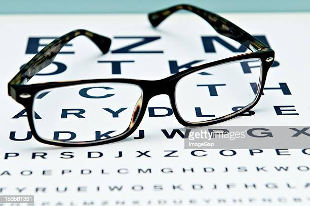 eye test - eye chart stock photos and pictures