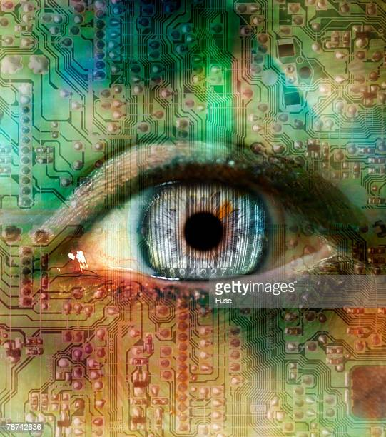 Eye with Computer Chip