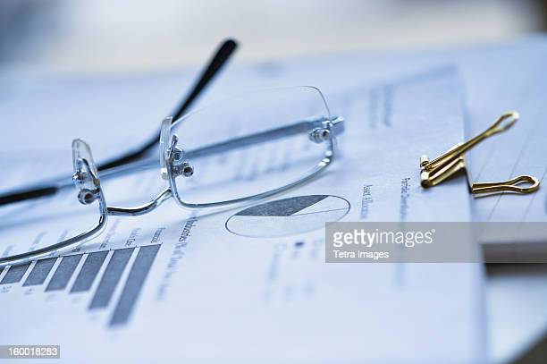 Eyeglasses on documents