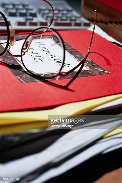 Eyeglasses on Folder