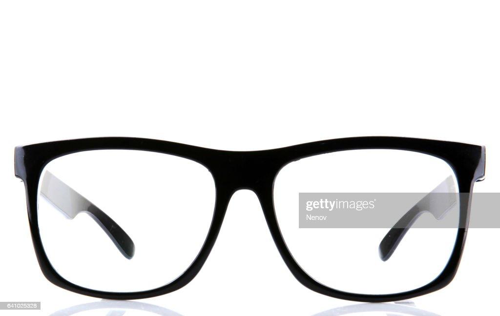 Eyeglasses with black rim : Stock Photo