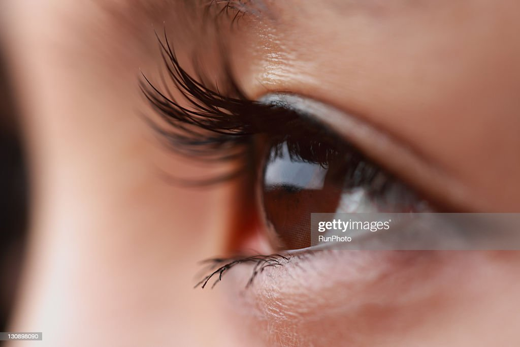eyeh of young woman,close-up : Stockfoto