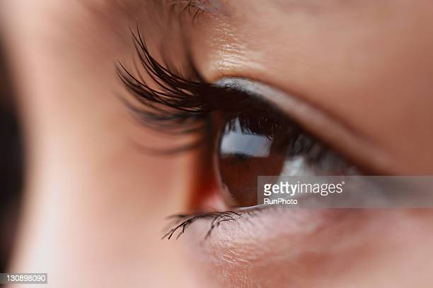 eyeh of young woman,close-up