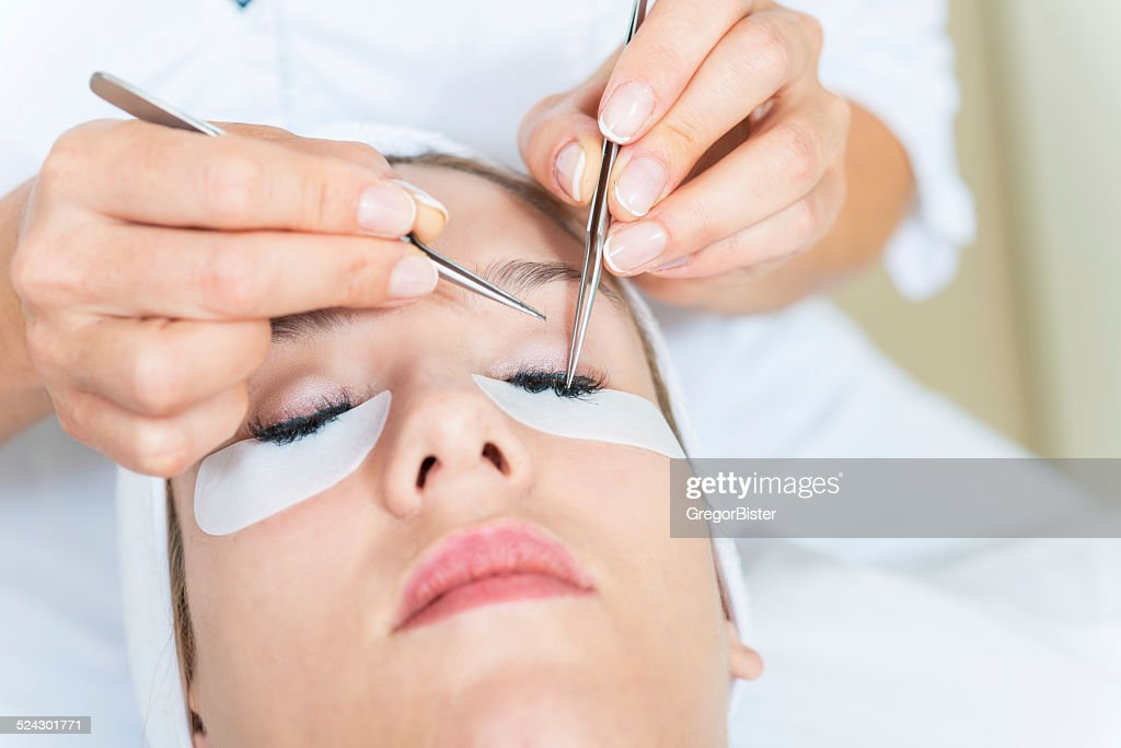 Eyelash Extensions : Stock Photo