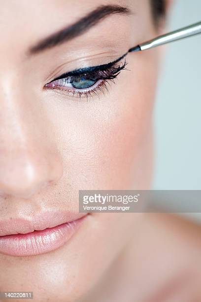 eyeliner - eye liner stock pictures, royalty-free photos & images