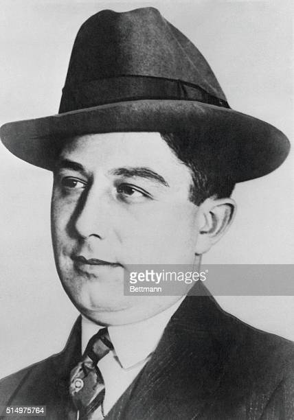 Eyes hooded Tony Accardo Chicago mobster is shown as he appeared before the senate crime investigating committee yesterday He was questioned for 20...