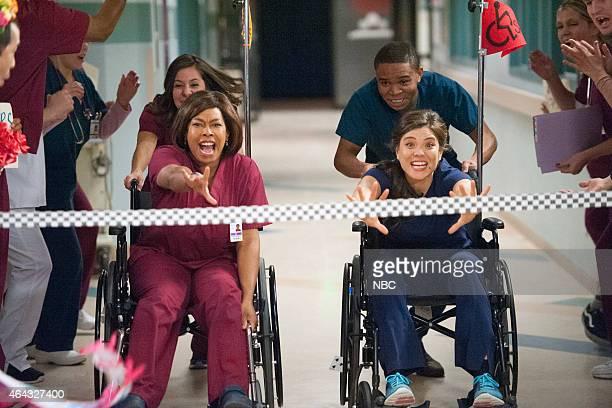 SHIFT Eyes Look Your Last Episode 205 Pictured Esodie Geiger as Nurse Ramos Robert Bailey Jr as Paul Cummings Jeananne Goossen as Krista BellHart