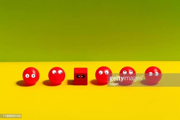 eyes looking up on colored background - googly eyes stock pictures, royalty-free photos & images
