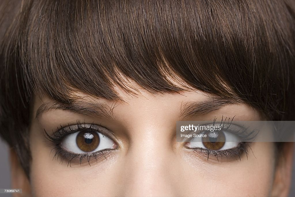 Eyes of a young woman : Stock Photo