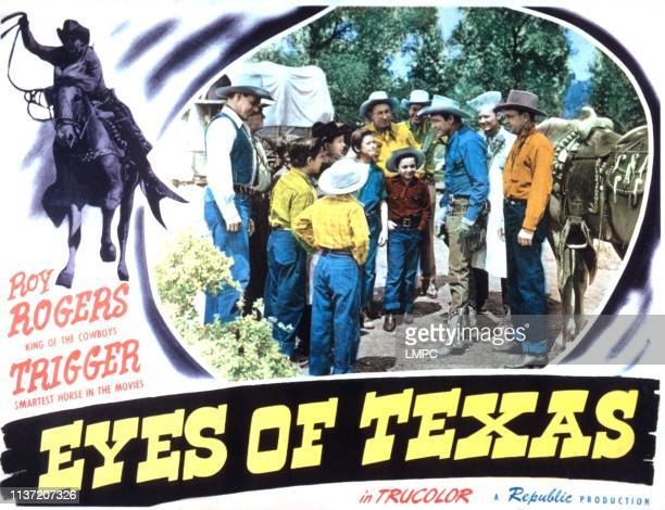 Eyes Of Texas lobbycard ninth from left Roy Rogers 1948