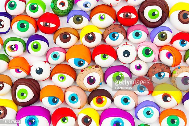eyes - funny cartoon stock photos and pictures