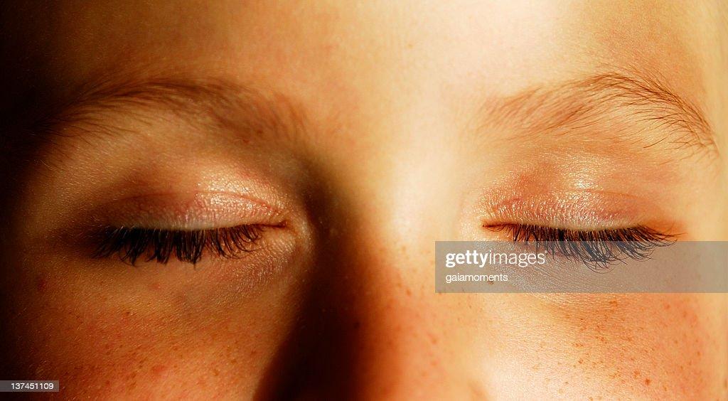 Eyes shut : Stock Photo