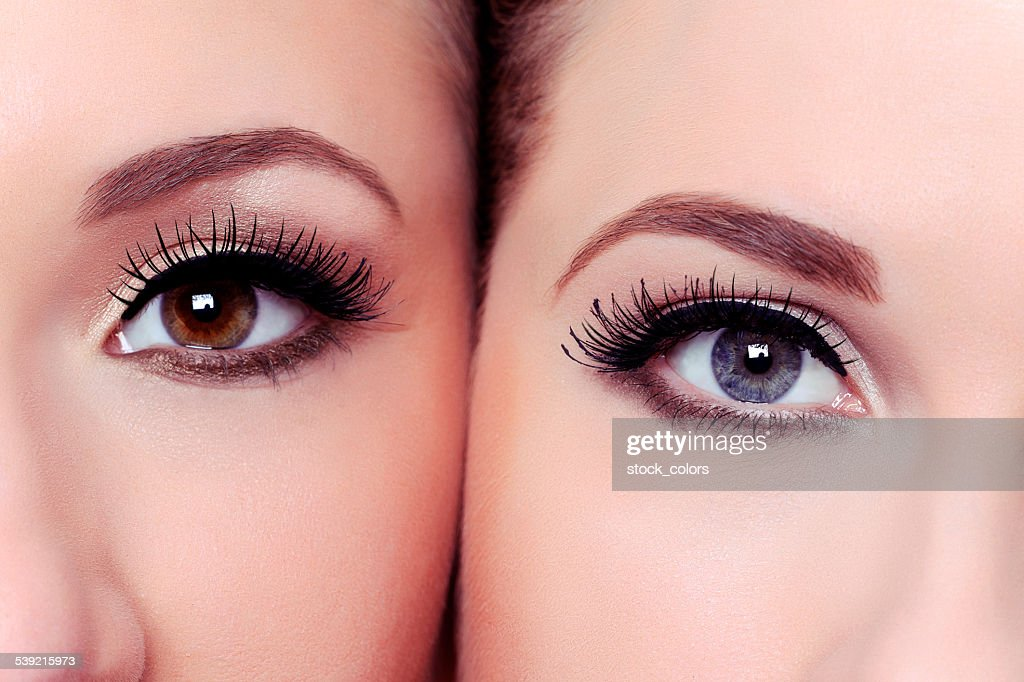 eyes with natural makeup : Stock Photo