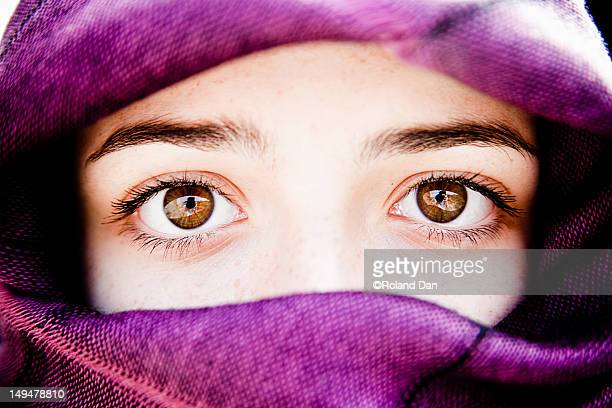 Eyes with scarf