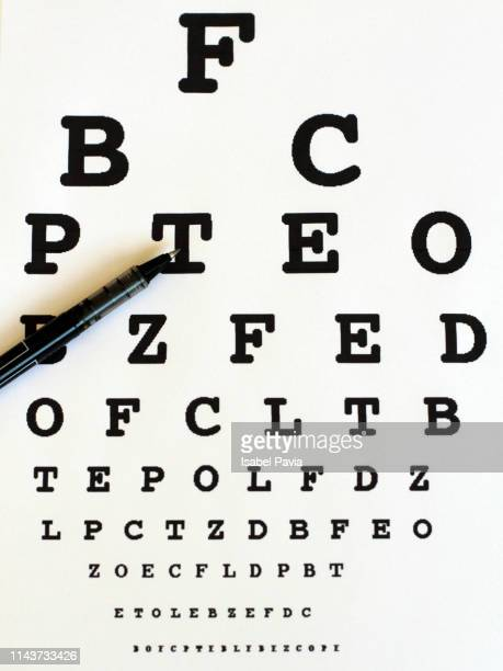 eyesight test chart background - medical icons stock pictures, royalty-free photos & images