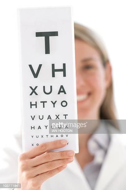 Eyesight test chart