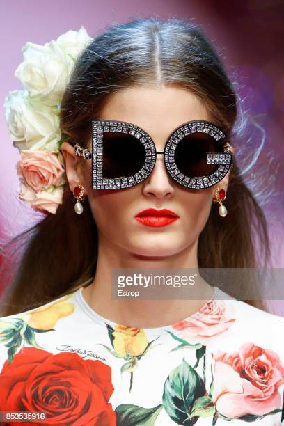Eyewear Detail at the Dolce Gabbana show during Milan Fashion Week Spring/Summer 2018 on September 24 2017 in Milan Italy