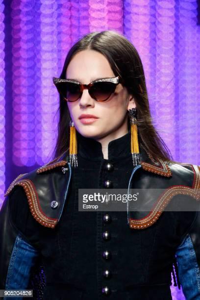 Eyewear detail at the Dsquared2 show during Milan Men's Fashion Week Fall/Winter 2018/19 on January 14 2018 in Milan Italy