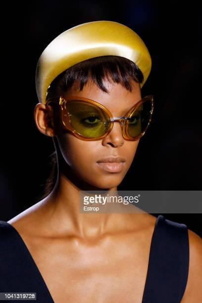 Eyewear detail at the Prada show during Milan Fashion Week Spring/Summer 2019 on September 20 2018 in Milan Italy
