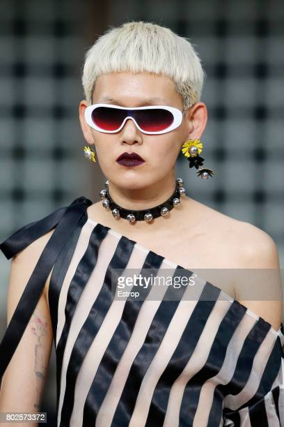 Eyewear detail during the Kenzo Menswear Spring/Summer 2018 show as part of Paris Fashion Week on June 25 2017 in Paris France