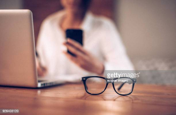 eyewear - reading glasses stock pictures, royalty-free photos & images