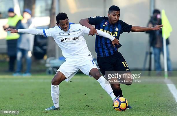 Eyob Zambataroof Atalanta BC Primavera competes for the ball with Rigoberto Manuel Rivas Vindel of FC Internazionale Primavera during the Primavera...