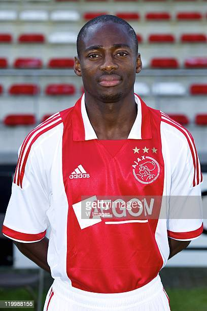 Eyong Enoh of Ajax poses during a photo call held at the Amsterdam Arena on July 25 2011 in Amsterdam Netherlands