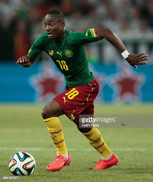 Eyong Enoh of Cameroon in action during the International Friendly match between Germany and Cameroon at Borussia Park Stadium on June 1 2014 in...
