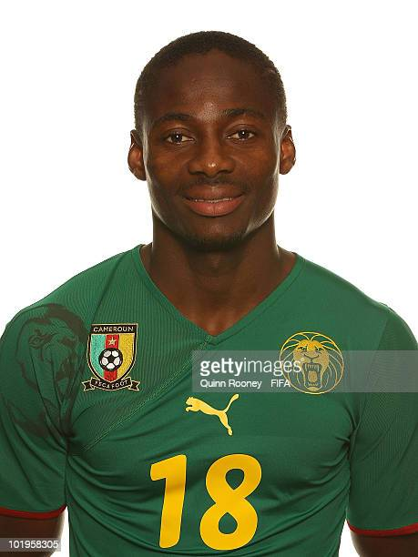 Eyong Enoh of Cameroon poses during the official FIFA World Cup 2010 portrait session on June 10 2010 in Durban South Africa