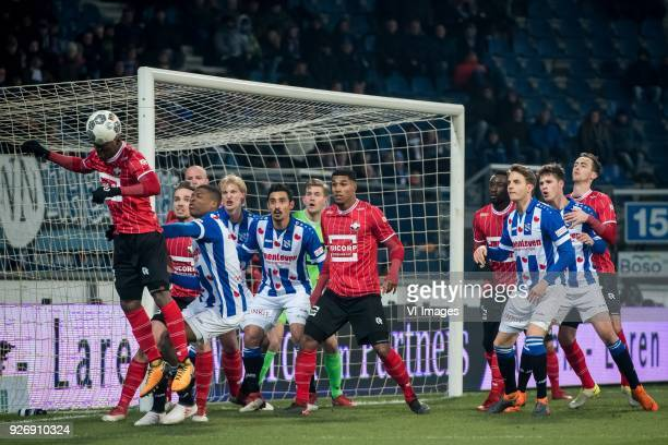 Eyong Enoh of Willem II Ben Rienstra of Willem II Denzel Dumfries of sc Heerenveen Morten Thorsby of sc Heerenveen Reza Ghoochannejhad of sc...