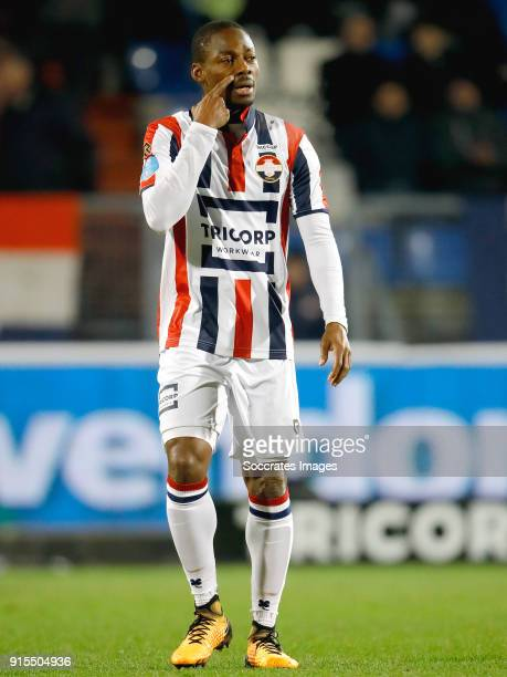 Eyong Enoh of Willem II during the Dutch Eredivisie match between Willem II v VVVVenlo at the Koning Willem II Stadium on February 7 2018 in Tilburg...