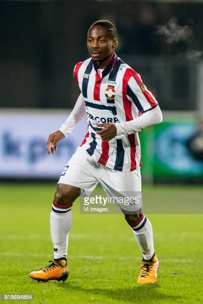 Eyong Enoh of Willem II during the Dutch Eredivisie match between Willem II Tilburg and VVV Venlo at Koning Willem II stadium on February 07 2018 in...