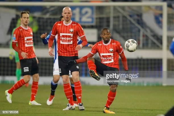 Eyong Enoh of Willem II during the Dutch Eredivisie match between SC Heerenveen v Willem II at the Abe Lenstra Stadium on March 3 2018 in Heerenveen...