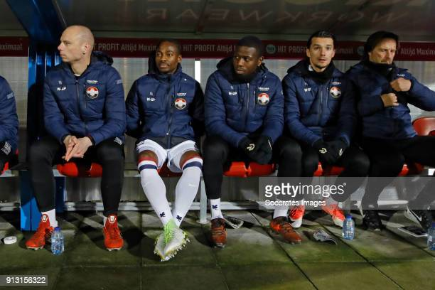 Eyong Enoh of Willem II during the Dutch KNVB Beker match between Willem II v Roda JC at the Koning Willem II Stadium on February 1 2018 in Tilburg...