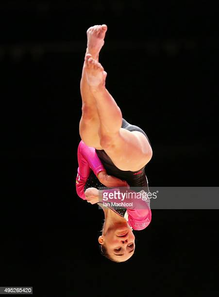 Eythora Thorsdottir of Netherlands competes on the Beam during day ten of The World Artistic Gymnastics Championships at The SSE Hydro on November 01...