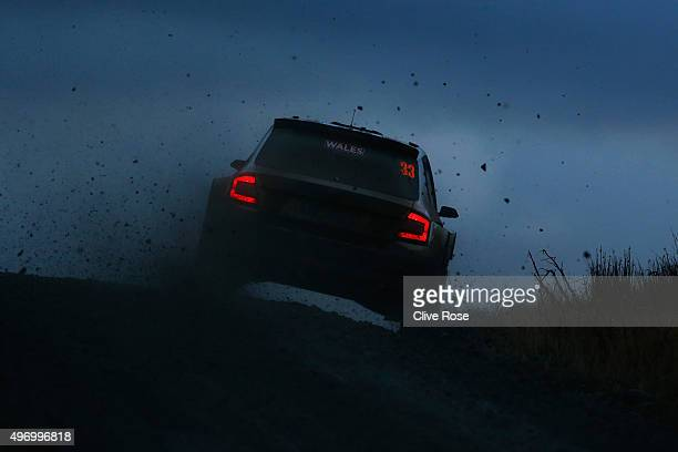 Eyvind Brynildsen of Norway and Anders Fredriksson of Sweden pilot the Motorsport Italia srl koda Fabia R5 during the Myherin stage of the FIA World...