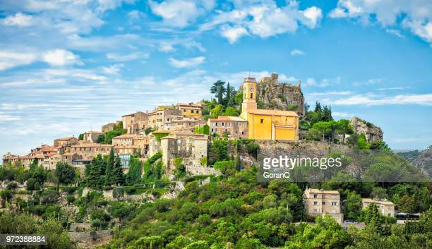 eze is a small old village in alpes-maritimes department in southern france, - france stock pictures, royalty-free photos & images